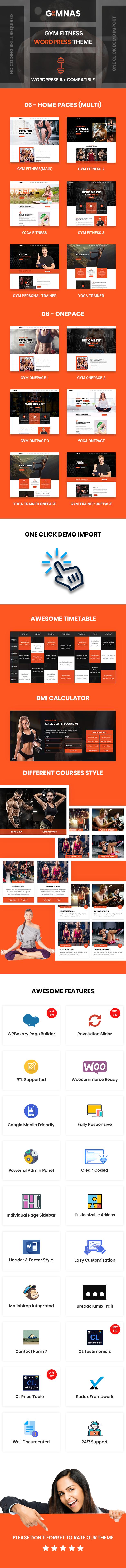 Gimnas - Gym Fitness WordPress Theme - 4