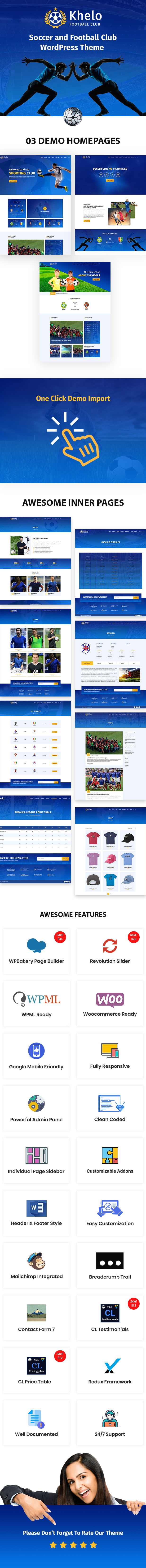 Khelo - Soccer & Football Club WordPress Theme - 3
