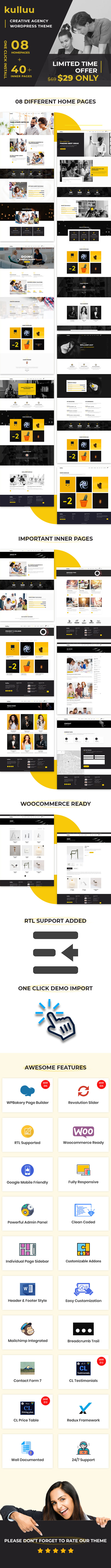 Kulluu - Creative Agency WordPress Theme - 4