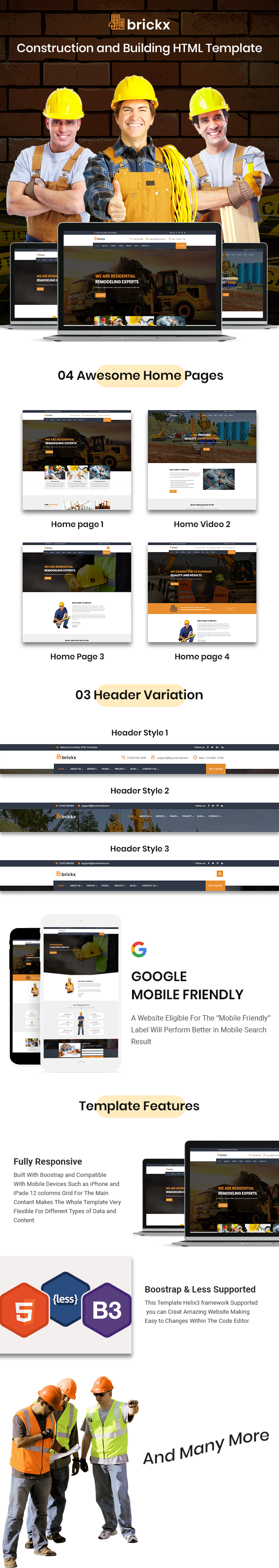 Brickx - Building & Construction HTML Template